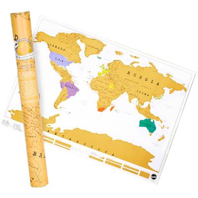 regalo niños viajeros Scratch Map