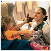 sky nanny de Gulf air - volar con niños