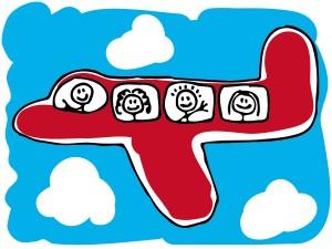 volar con niños