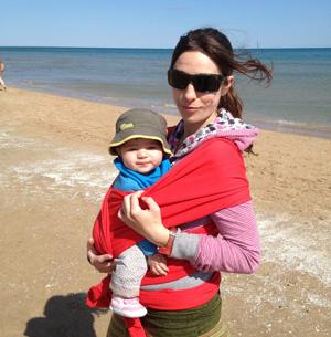 fular porta bebés para viajar
