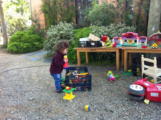 zona zoa de juguetes del Encuentro Familias en Ruta