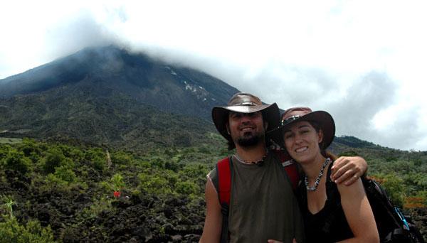 volcan Arenal con niños