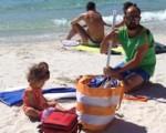La logística de la playa con bebés