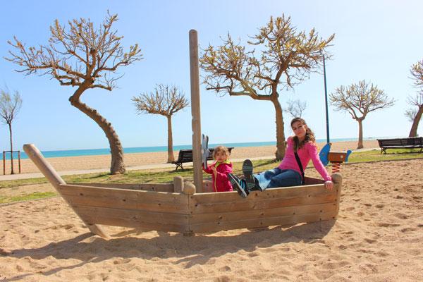 malgrat de Mar con niños