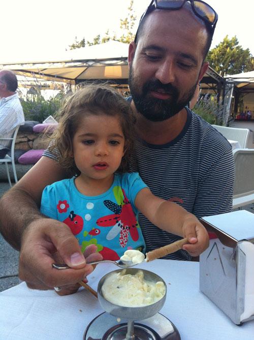 niños y helados