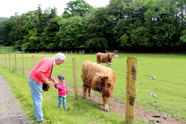 granja Escocia con niños