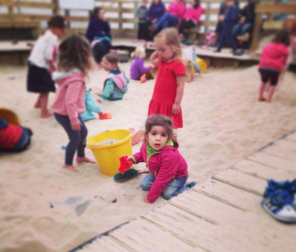 granja arenero de arqueología Escocia con niños