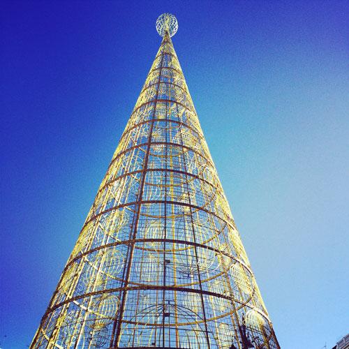 Madrid Navidad con niños arbol puerta del sol
