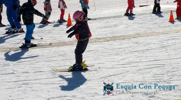 esqui con niños