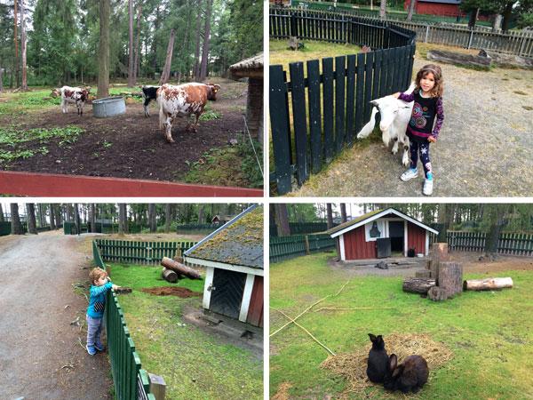 suecia con niños Mariebergsskogen granja