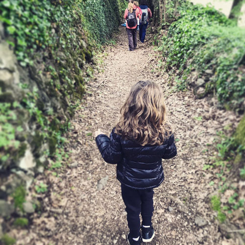 Pedra Tosca garrotxa con niños