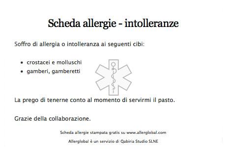 tarjeta de alergias