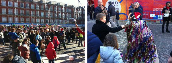 Madrid con niños en Navidad Plaza Mayor