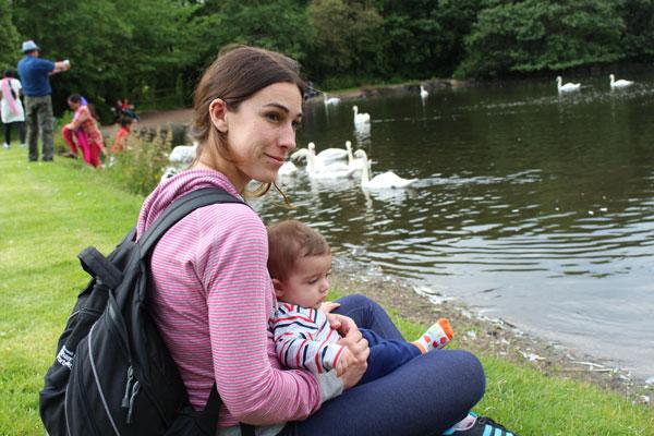 Holyrood Edimburgo Escocia con niños
