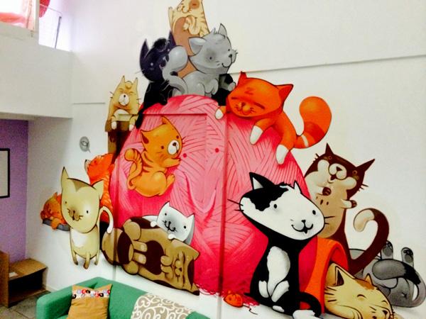 ocio Madrid con niños gatoteca