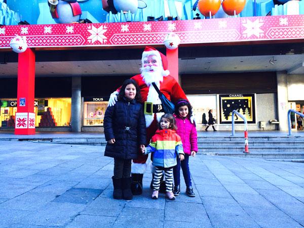 Madrid Navidad con niños papa noel