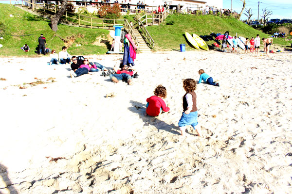 Playa de po Asturias con niños