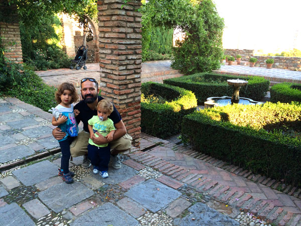 Alcazaba Malaga con niños