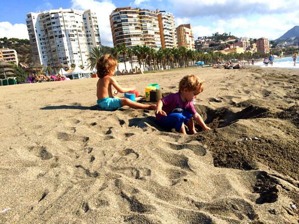 Playa Malagueta Malaga con niños