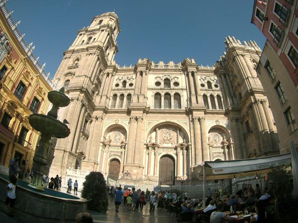 catedral  Malaga con niños