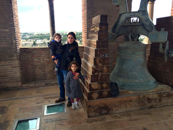 Torre el Salvador Teruel en familia