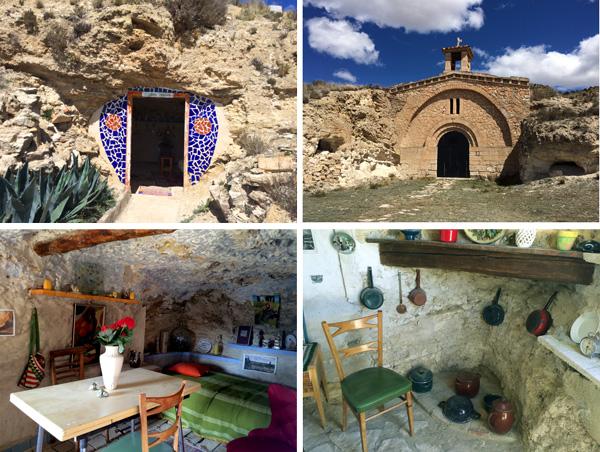 Casas cuevas de libros Teruel con niños