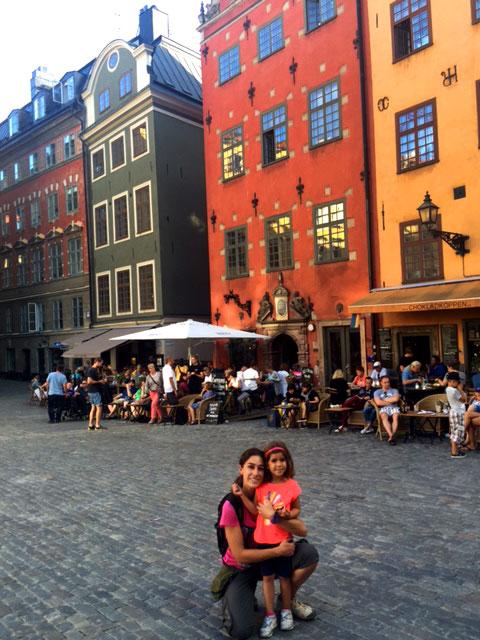 Suecia con niños Estocolmo Gamla stan