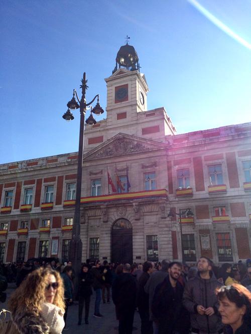 navidad con niño en Madrid puerta del sol