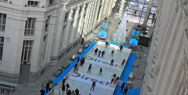 pista-patinaje sobre hielo navidad con niños en Madrid