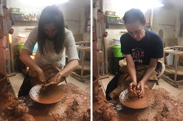 taller de Ceramica con niños en terres de l'ebre