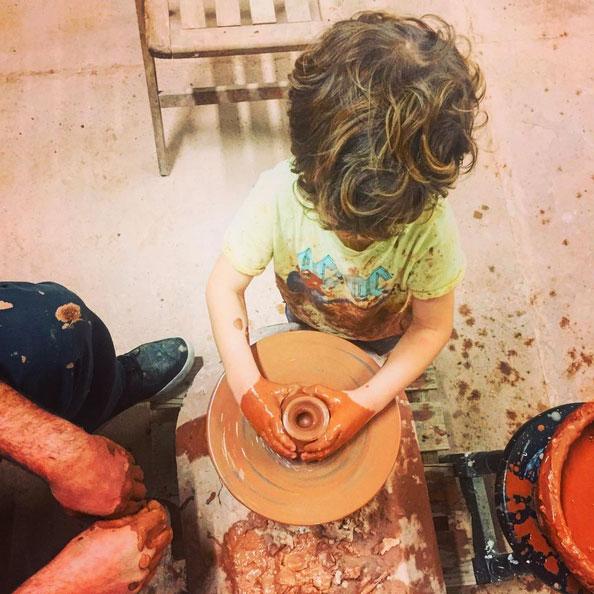 taller de ceramica con niños