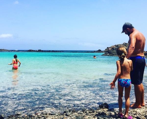 Fuerteventuracon niños Isla de Lobos