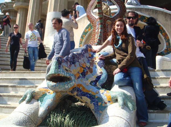 parque guell Barcelona con niños