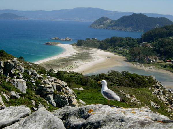 islas cies Galicia con niños Rias Baixas
