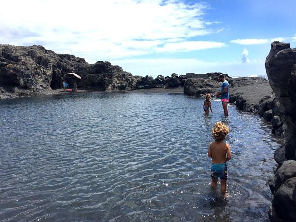 Los Cancajos La Palma con niños