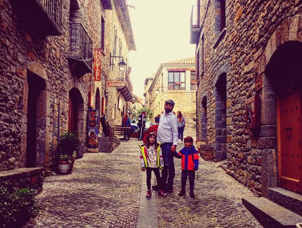 ainsa Huesca con niños