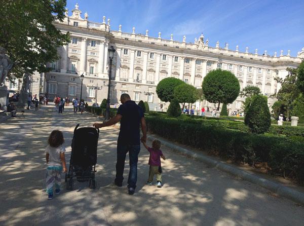 palacio-Real Madrid con niños