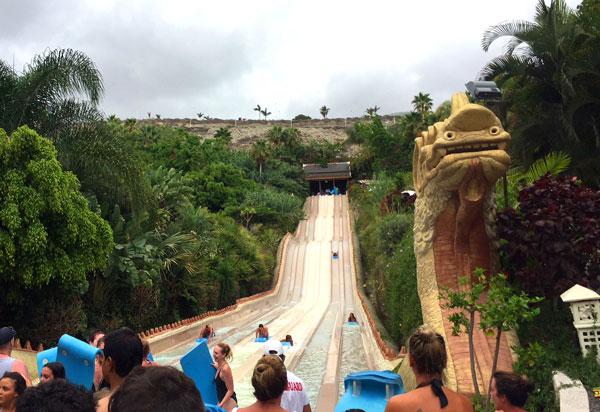 Siam-Park-Naga-Racer Tenerife con niños