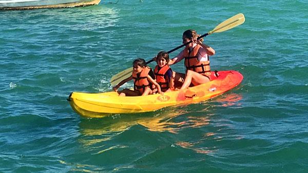 kayak  el Caribe con niños