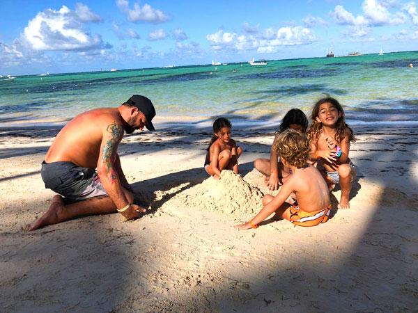 Caribe con niños playa